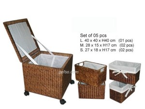 661130 – Water hyacinth basket