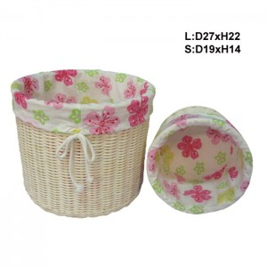 115543 Set of 2 Rattan Storage Baskets
