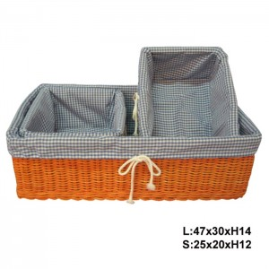 115544 Set of 3 Rattan Storage Baskets