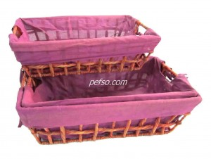 661127 Set of 2 Water Hyacinth Baskets