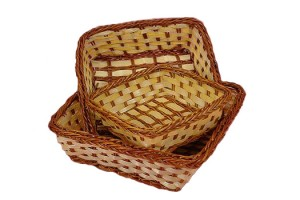 227702 Set of 3 Bamboo Baskets