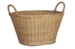 114408 Rattan Laundry Basket