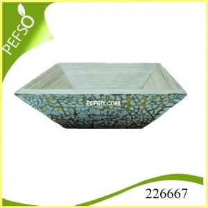 226667 Bamboo Tray with Eggshell Inlaid
