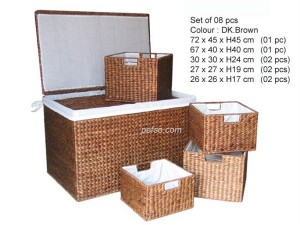 661130 – WATER HYACINTH STORAGE BASKET