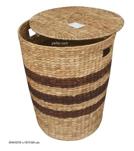 661129 – WATER HYACINTH BASKET WITH LID