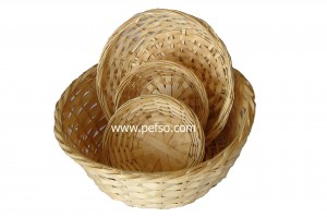 227707 Set of 4 Bamboo Baskets