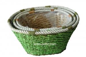 551102 Seagrass Basket, Flower Pot