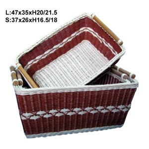 115540 Set of 2 Rattan Storage Baskets