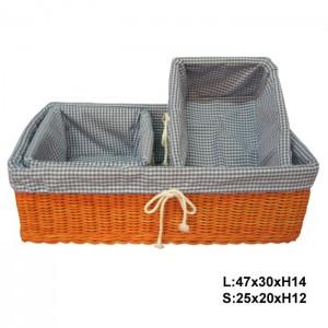 115544 Set of 3 Rattan Storage Baskets