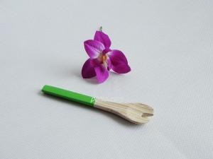 222205 Bamboo salad fork