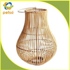332206 Natural Rattan Lantern