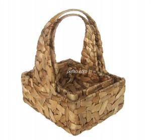 661121 Set of 2 Water Hyacinth Baskets