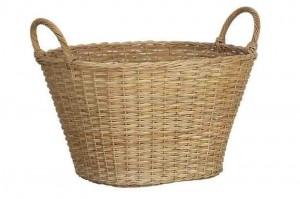 114408 Rattan Laundry Basket