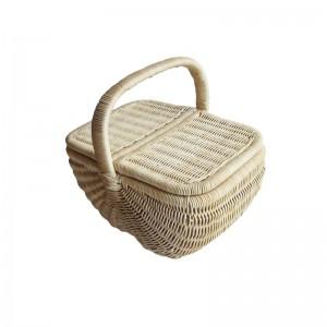 115549 Rattan Picnic Wicker Basket