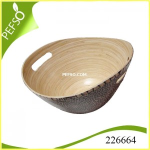 226664 Bamboo Salad Bowl with Eggshell Inlaid