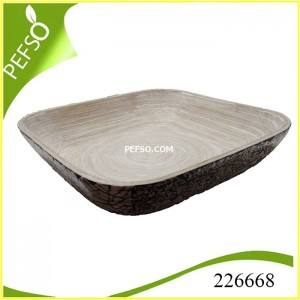226668 Bamboo Tray with Eggshell Inlaid